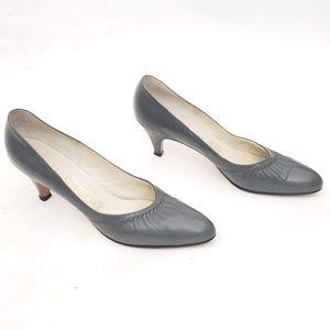 🖤Jean La Val Gorgeous Vintage Leather Heels Sz 10